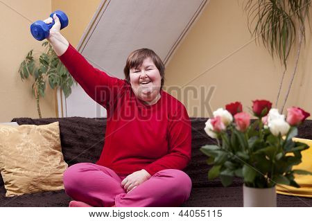 Mentally Disabled Woman Shows Her Strength