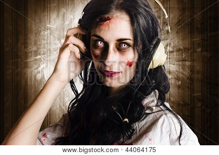 Hard Rock Zombie Listening To Death Metal Music