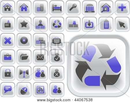 Ultimate vector icon or button pack
