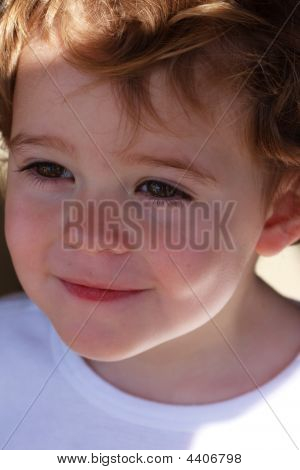 Close Up Young Boy Smiling