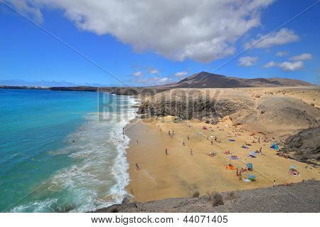 Famous Beach On Canary Islands - Lanzarote, Spain
