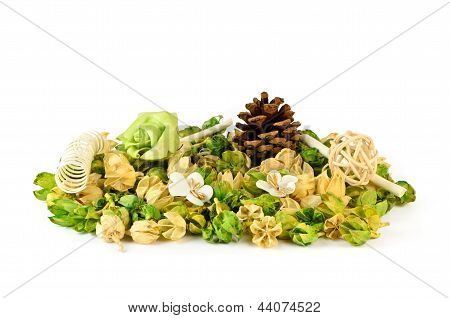 Dry Potpourri With Fir Cones, Rose Wood And Spring