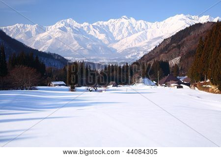 Hakuba Village In Winter