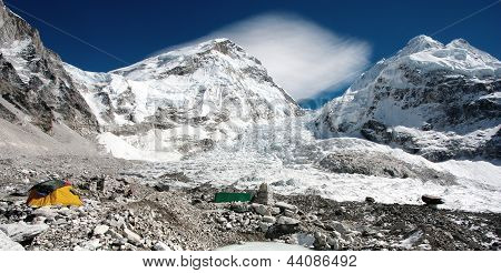 view of Mt Everest base camp