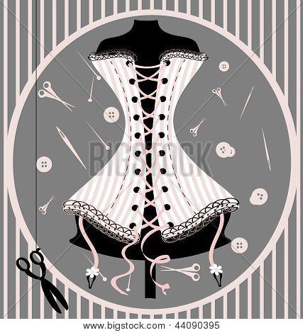 craft dummy and corset