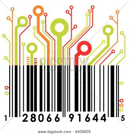Abstract Barcode. Vector.
