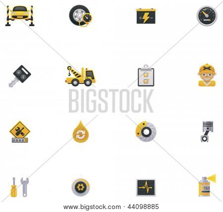 Car service icon set. Part 1