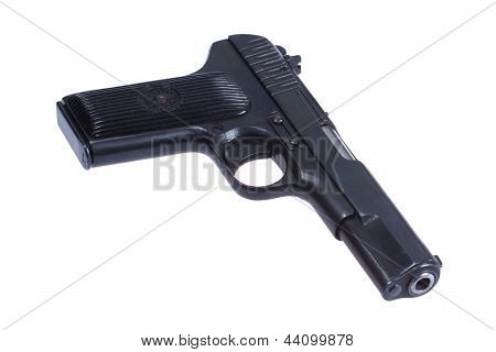 WWII Soviet handgun TT (Tula Tokarev) isolated on white background poster
