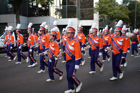 Clemson Marching Band In Gator Bowl Parade