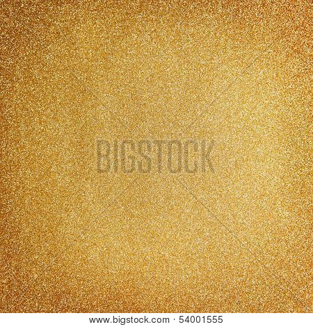 Golden glitter christmas background poster