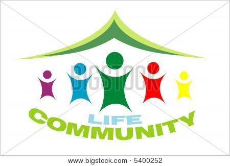 Life Community symbol colorful image with high constrast colors poster
