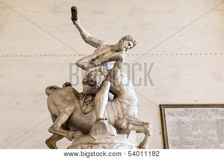 An image of Hercules Beating the Centaur Nessus