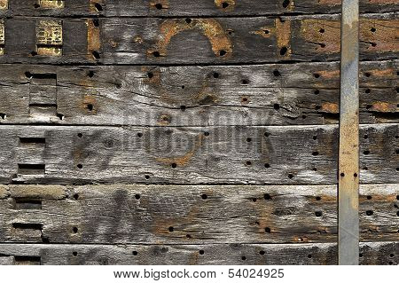 An Old Wooden Siding