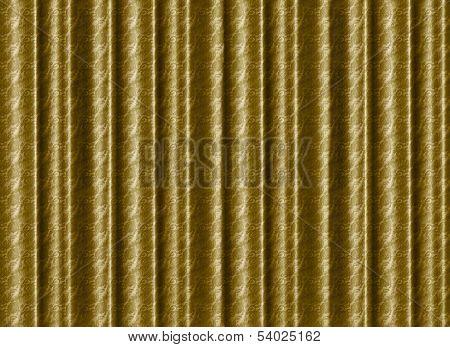 A Pleated, Gold, Silk Curtain Backdrop