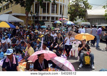 Bangkok - November 11, 2013 : The Protest Against The Amnesty Bill In Bangkok, Capital Of Thailand