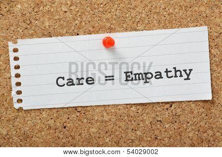 Care requires Empathy