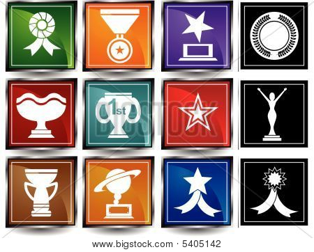 Award Icons Square Frame