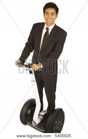 Businessman On Segway