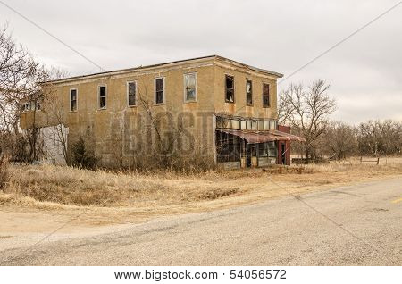 Carneiro (Portuguese for sheep fold) Kansas was established in 1882. This building was a general store. poster