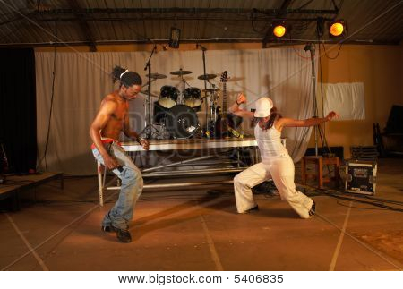 Two Freestyle Hip-hop Dancers