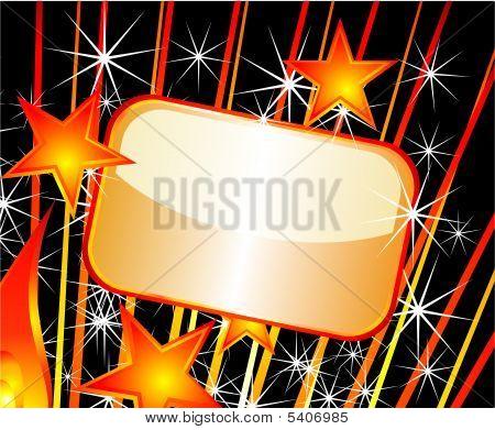 Placa de ouro festiva com cores de alto contraste