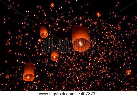 Floating Lantern Festiva.