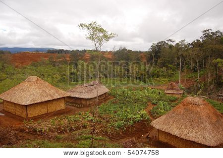 Traditional Village In Highlands Rural Area