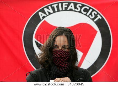 Bulgaria Sofia Anti Fascist Portest