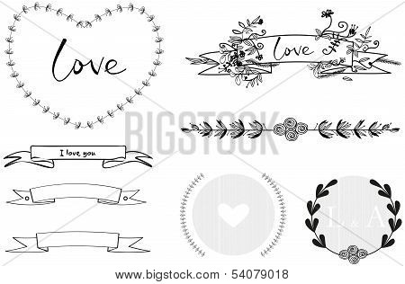 Wedding Graphic Hand-draw Set