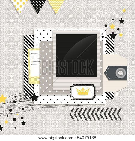 Gray And Yellow Modern Design Elements