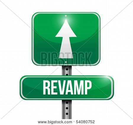 Revamp Road Sign Illustration Design