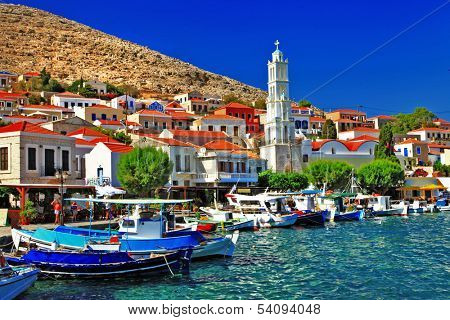 Halki -pictorial small island of Dodecanese, Greece