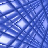 Quilted blue silk for use as a background or texture. poster