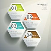 realistic modern vector abstract hexagonal infographic elements poster