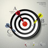 realistic vector abstract 3d target infographic elements poster