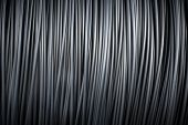 Large coil of Aluminum wire. See my other works in portfolio. poster
