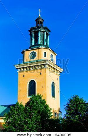 Church on blue sky