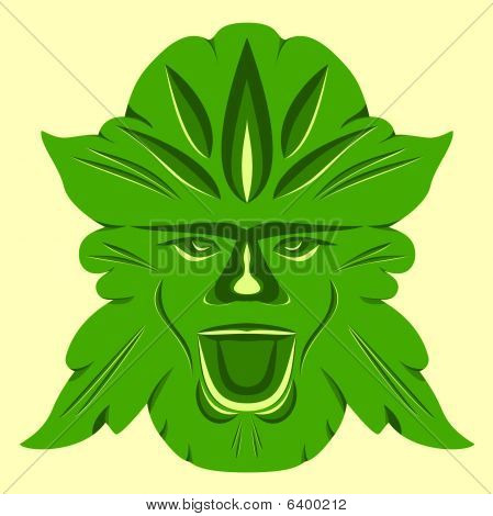 Green Man (spring Colors)
