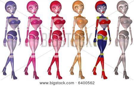 Toon Robot Girl