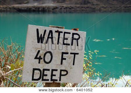 'water 40 Ft Deep'