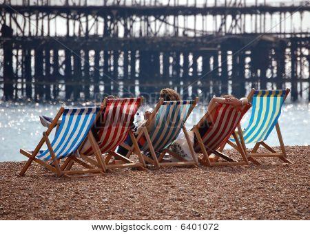 Brighton Beach And The Derelict West Pier