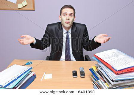 Geschäftsmann in office