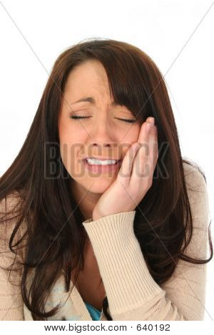 Brunette Woman Very Sad