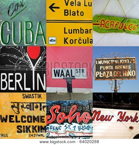World Travel Signs