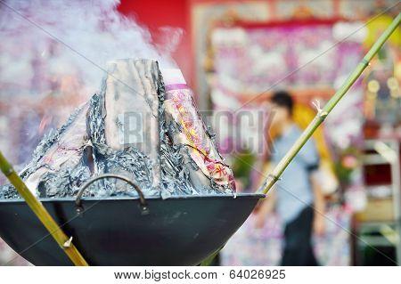 Burning The Ghost Money