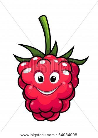 Happy cheeky cartoon raspberry