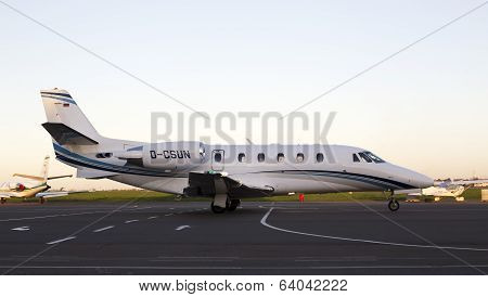 Cessna 560XLS Citation Excel business aircraft running on the runway