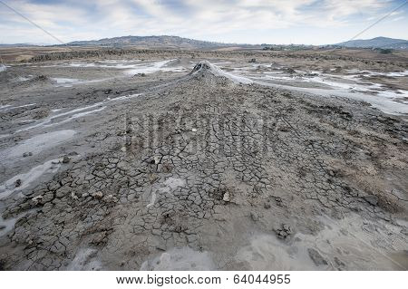small volcano of mud