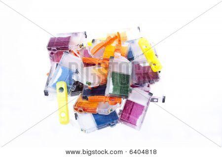 Empty Inkjet Printer Ink Cartridges