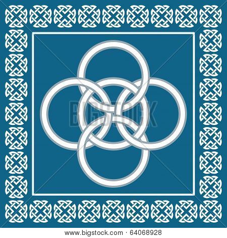 Celtic Five Fold Knot ,symbolizes Integration Of Four Elements,water, Air, Earth And Fire Into Fifth